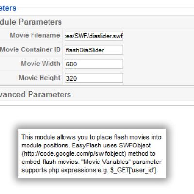 Mod_easyflash___edit__module_parameters